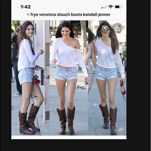 Slouch Frye Boots 9